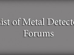 List of Metal Detector Forums